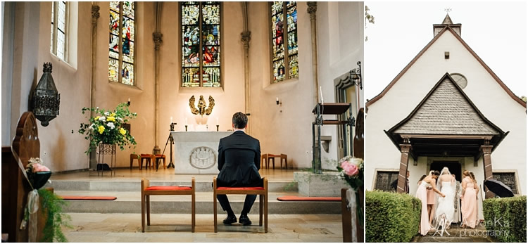 Einzug Kirche Braut und brautjungfer rösrath