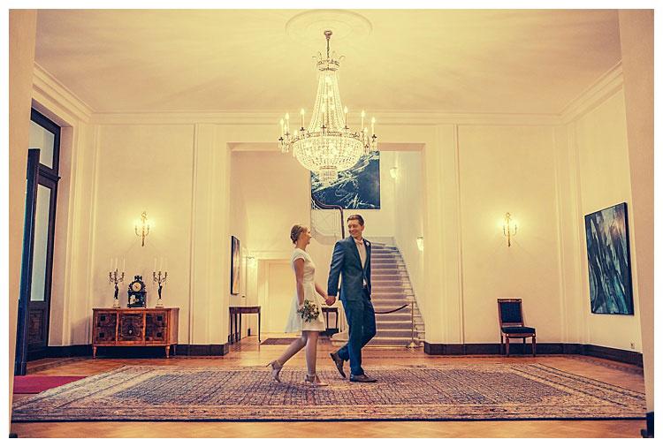 Standesamtliche Trauung in der Villa Hammerschmidt