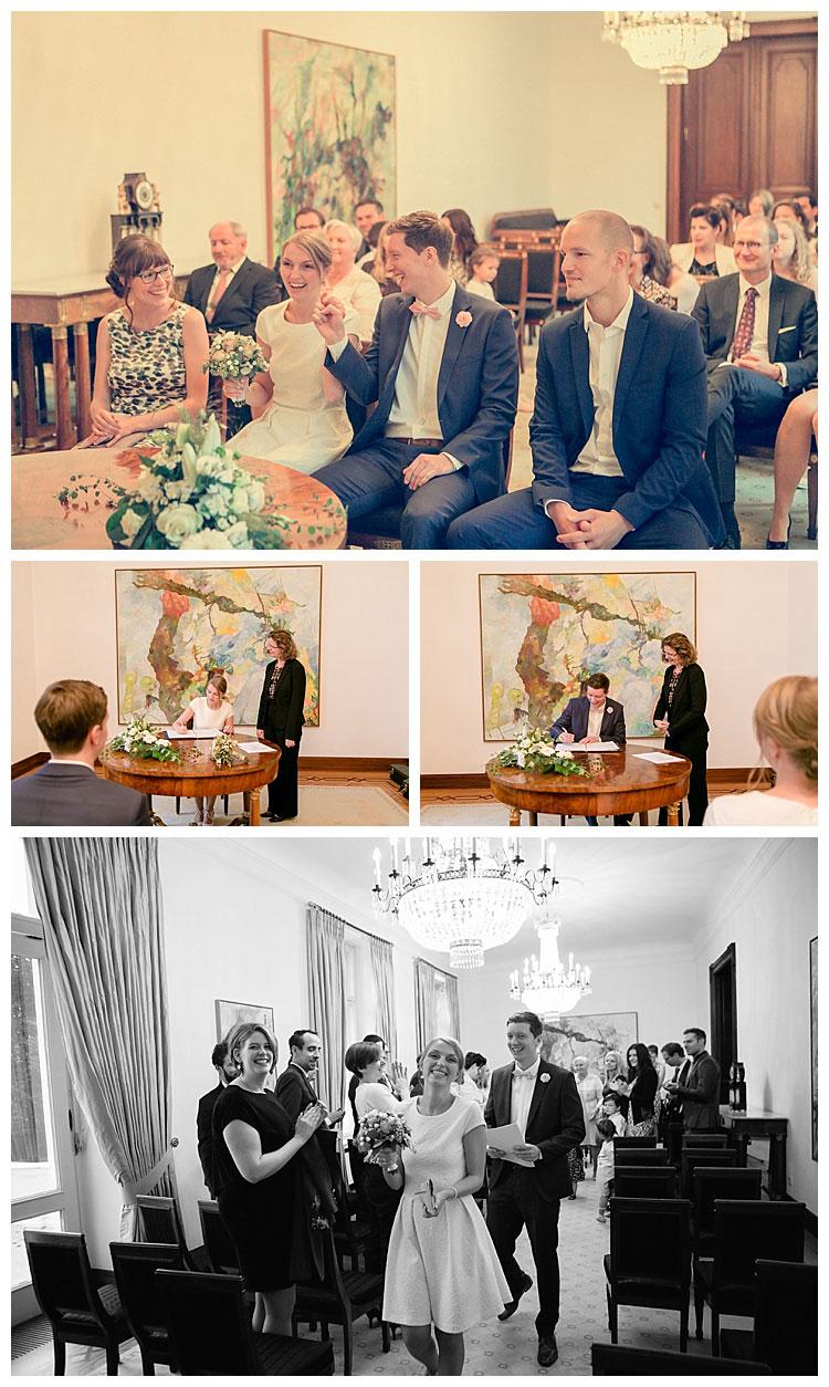 Standesamtliche Trauung in der Villa Hammerschmidt in Bonn